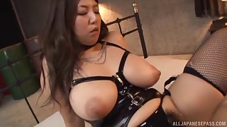 Huge natural Asian titties bouncing around in a hot fuck scene