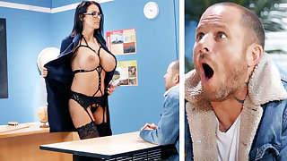 Erotic teacher hardcore fucks schoolboy at school